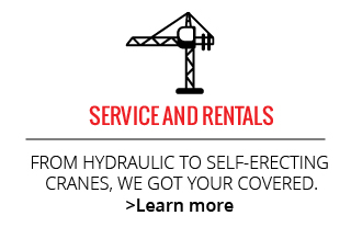 Service and Rentals | From hydraulic to self-erecting cranes, we got your covered.